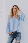 Casual Loose Linen Gauze Long Sleeve Top