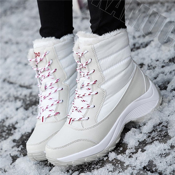 Women's Fashion Winter Boots Ankle Warm Bootie Casual Outdoor Shoes Plus Size
