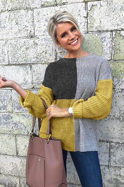 Casual Matching Loose Knitted Sweater