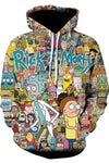 Ricky And Morty Printed Unisex Hoodie