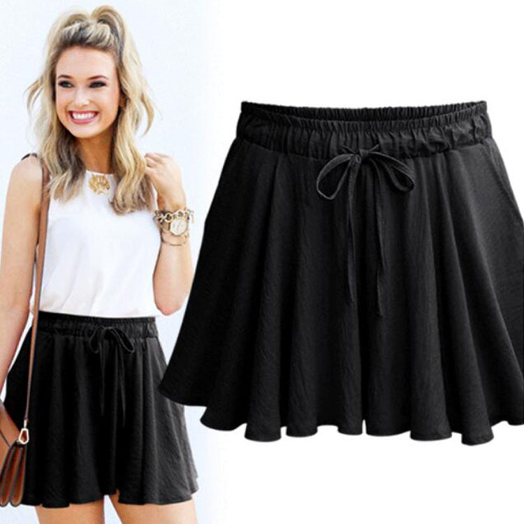 Chic Loose High Waist Anti-chafing Pants Skirt