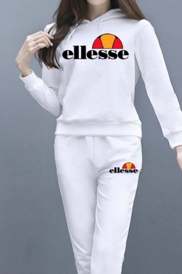 Ellesse Fashion Hoodie Long Sleeved Sport Suit