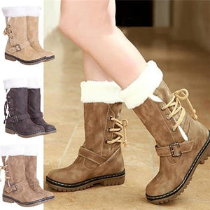 Classics Women Fashion Flat Heels Winter Shoes Warm Fur Snow Boots