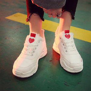Super Hot Chic Sports Shoes With Heart Pattern