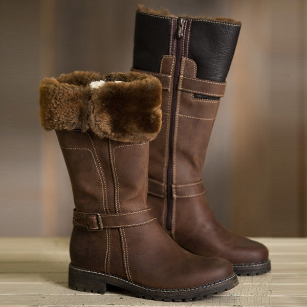 Women's Warm Leather Martin Boots