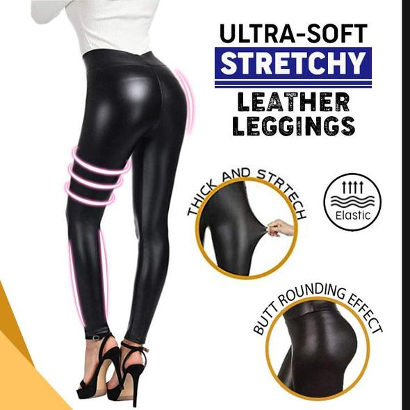 Ultra-Soft Stretchy Leather Leggings