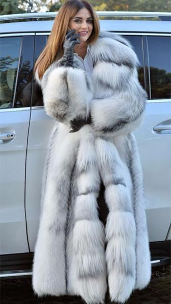 2d585474336 Fashion Long Sleeve Fox Fur Coat – bettiya.com