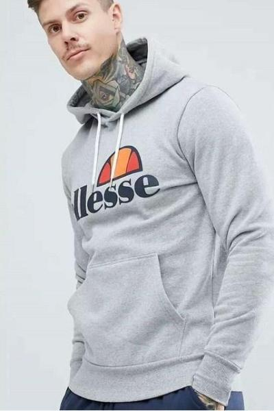 Ellesse Long Sleeve Loose Hoodies Casual Pullover