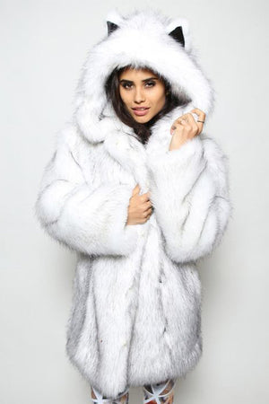Fox Fur Hooded Collar Tide Ladies Fur Coat