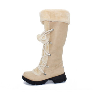 New Hot Fashion Sexy Ladies'  Knee High Boots Winter  Fur Warm Snow Boots
