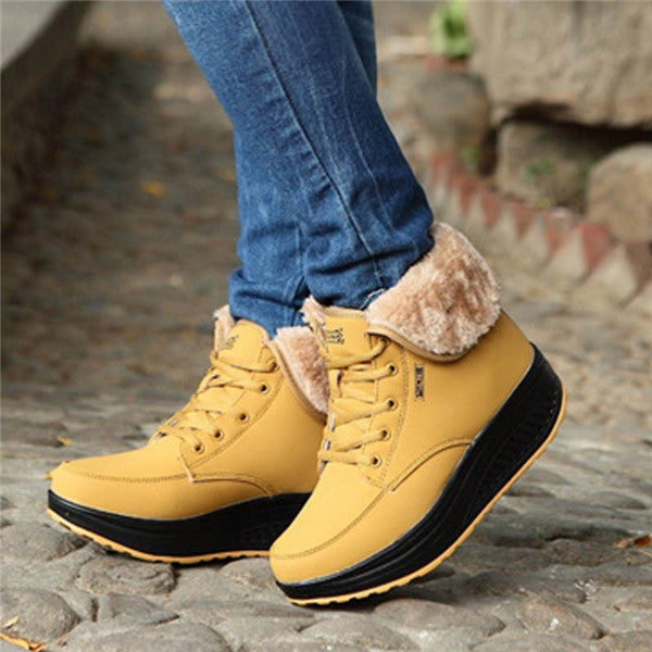 Women's Outdoor Ankle Snow Boots Casual Warm Winter Boots Increase Shoes