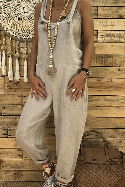 Casual Loose Wide Leg Jumpsuit