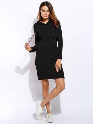 Long Hoodie Pullover Dress