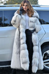 Fashion Long Sleeve Fox Fur Coat