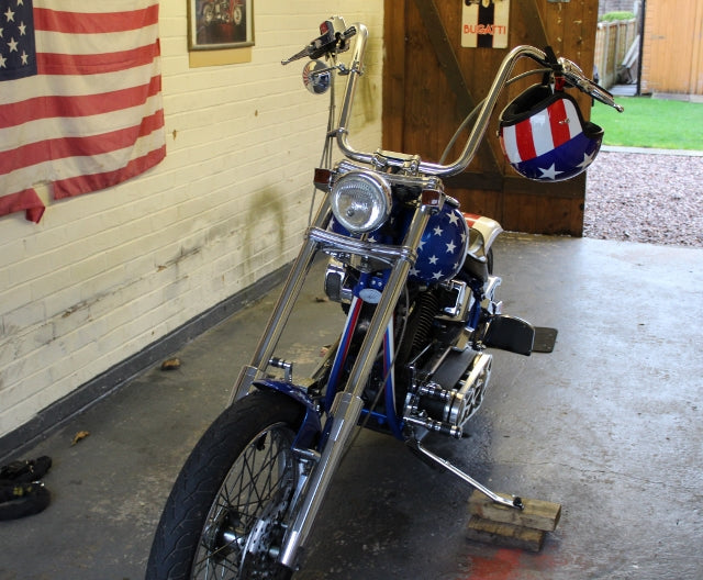 Captain America's tribute bike, designed and built by the legendary Colin Rutherford