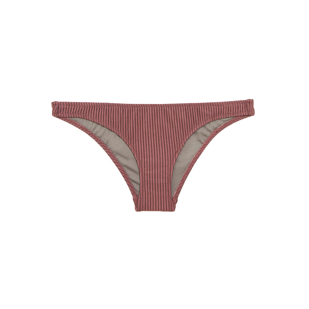 Mauve ribbed bikini bottom by Made by Dawn