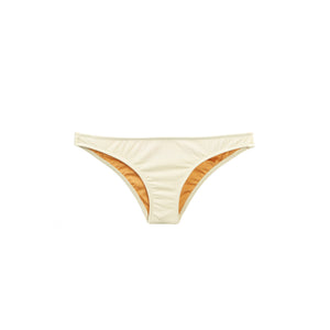 Cream ribbed bikini bottom by Made by Dawn