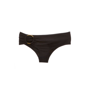 Black bikini bottom with ring hardware