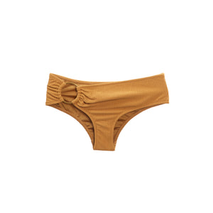 Tan bikini bottom with ring hardware