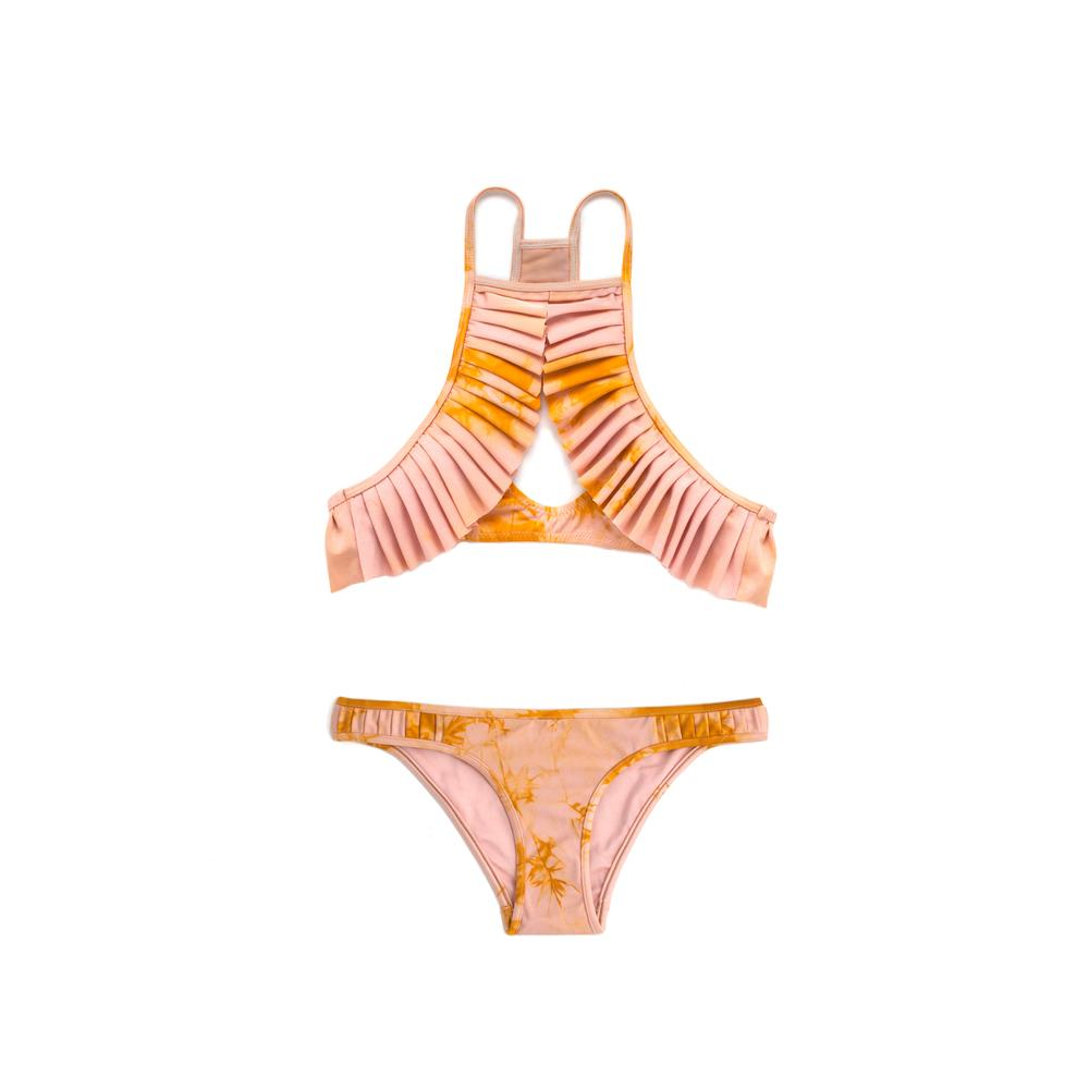 Orange tie-dyed bikini bottom by Made by Dawn