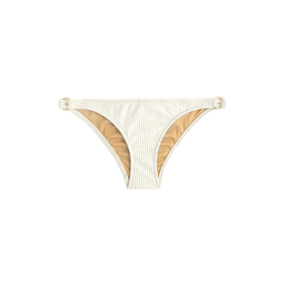Cream bikini bottom with side rings