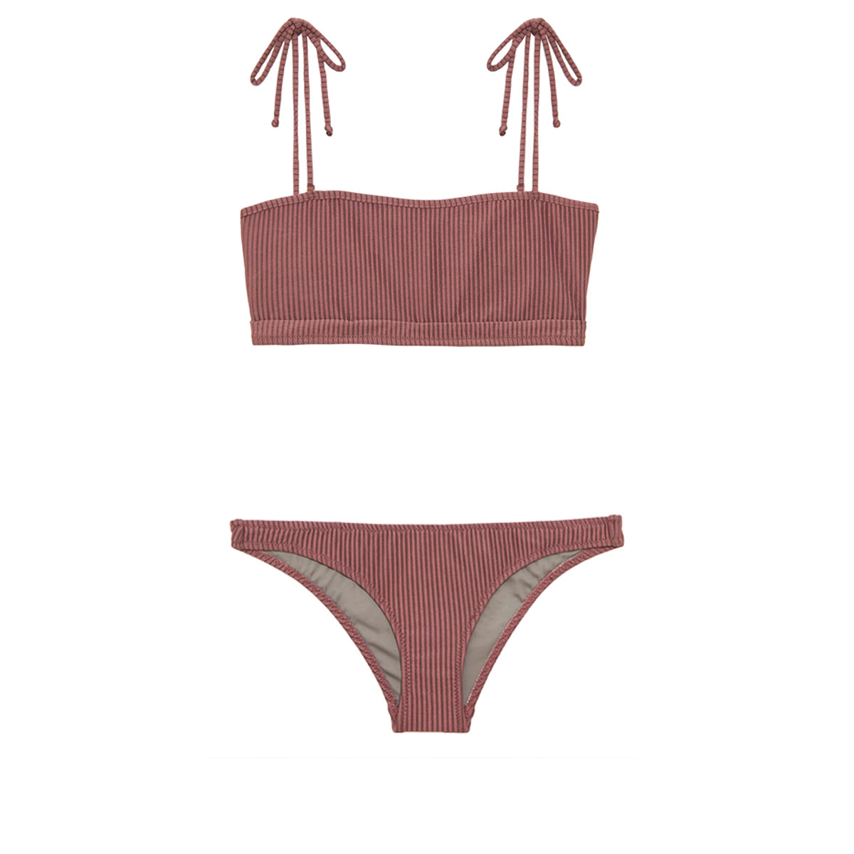 Two piece mauve swimsuit by Made by Dawn