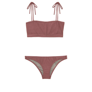 Coral Bottom | Mauve Rib