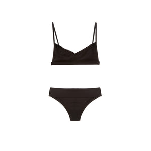 Black two piece bikini by Made by Dawn