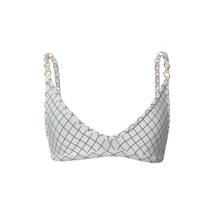 Linx Top | Blueline Lattice