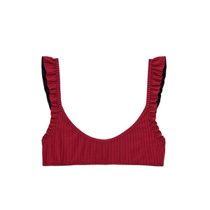 Petal 2 Top | Hibiscus Red Jacquard