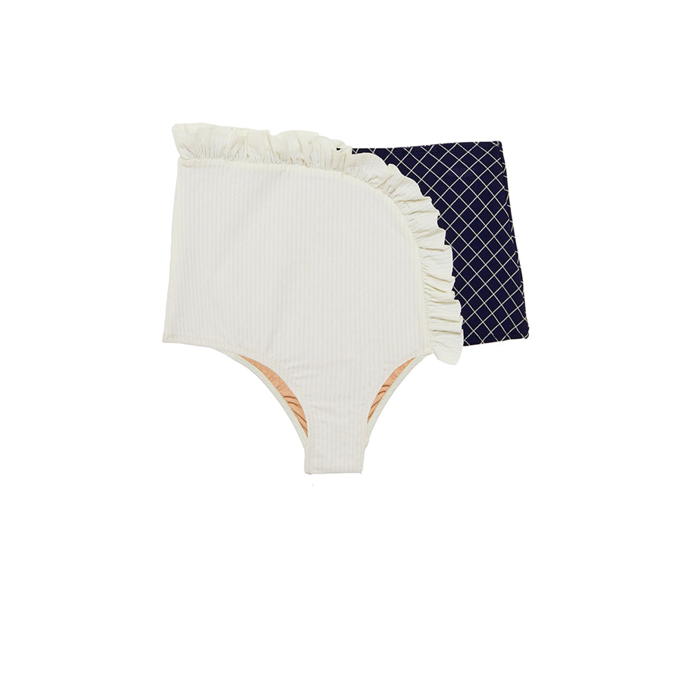 Arc Bottom | Cream Rib/Deep Sea Diamond