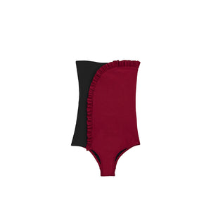 Arc One Piece | Hibiscus Red/Rock Rib
