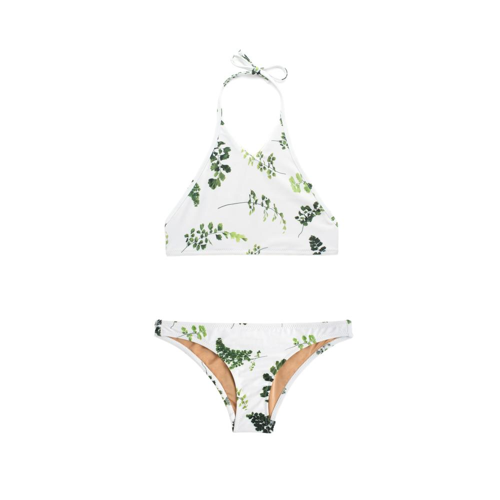 Leaf print two piece swimsuit by Made by Dawn