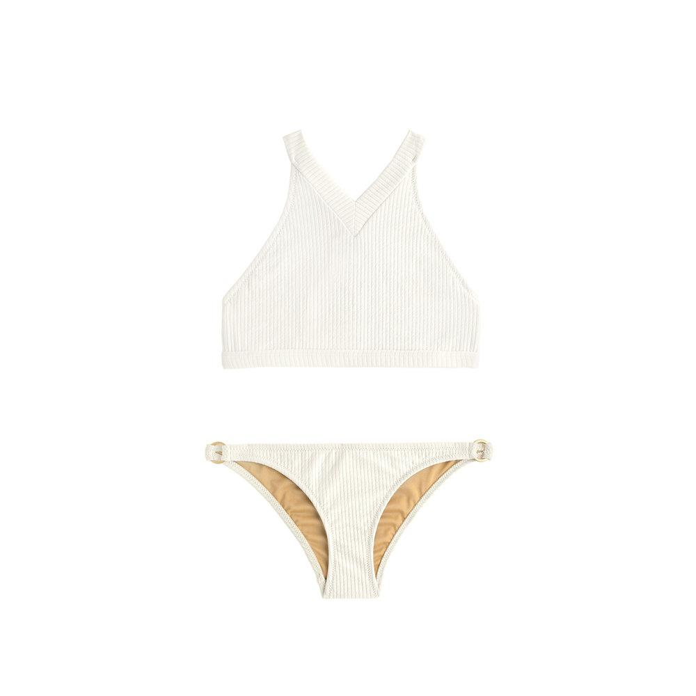 Cream two piece swimsuit by Made by Dawn