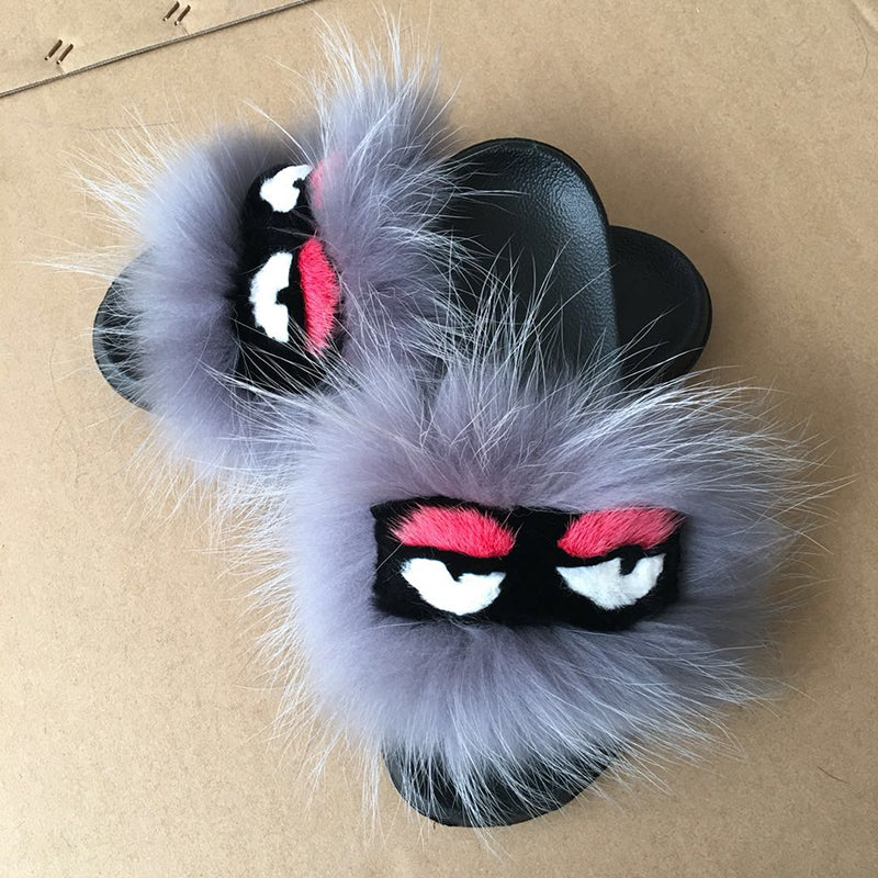 Lilly Monster Fur Sandals