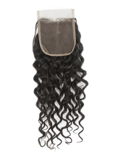 Indian Curly Lace Closure (4*4)- Diamond Collection