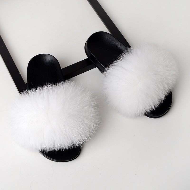 Glacier Fox Fur Sandals
