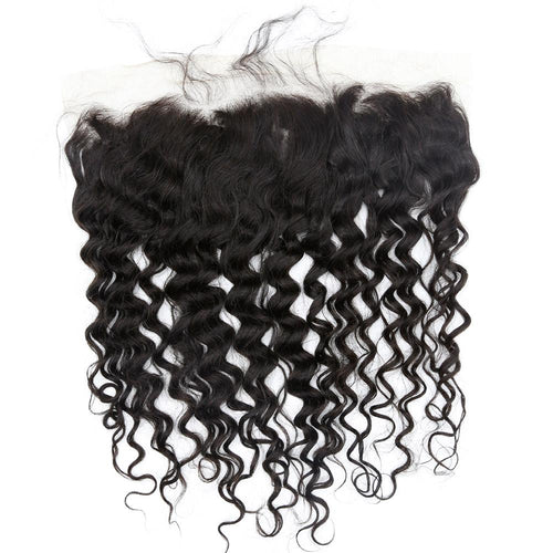 Indian Curly Lace Frontal (13*4)- Platinum Collection