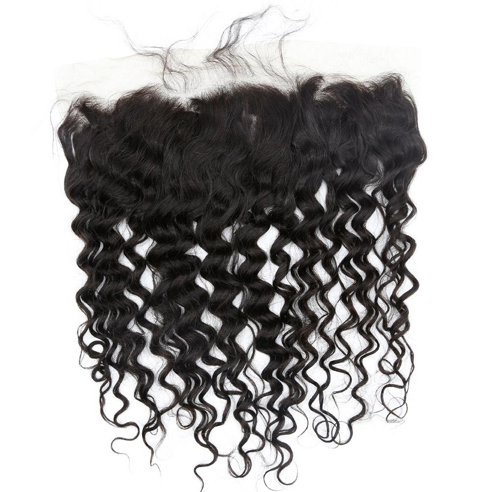 Indian Curly Lace Frontal (13*4)- Diamond Collection Sale