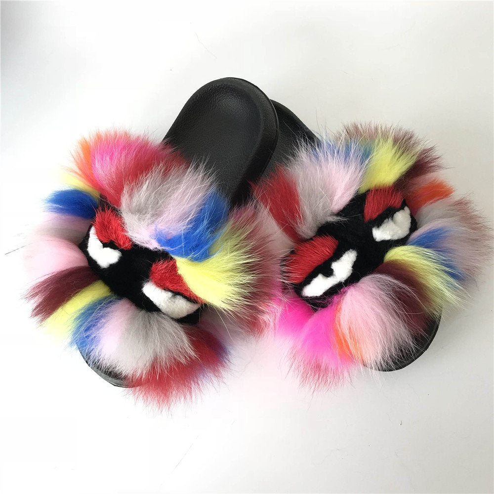 Splash Monster Fur Sandals