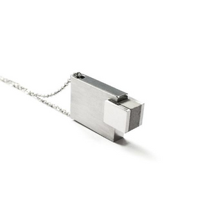 Rectangle with cement necklace