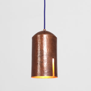 HAMMERD COPPER LAMP - A