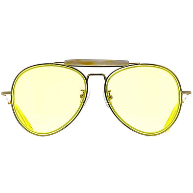 Dries Van Noten DVN188 C2 Sun Yellow/ Horn/ Yellow Gold/ Yellow