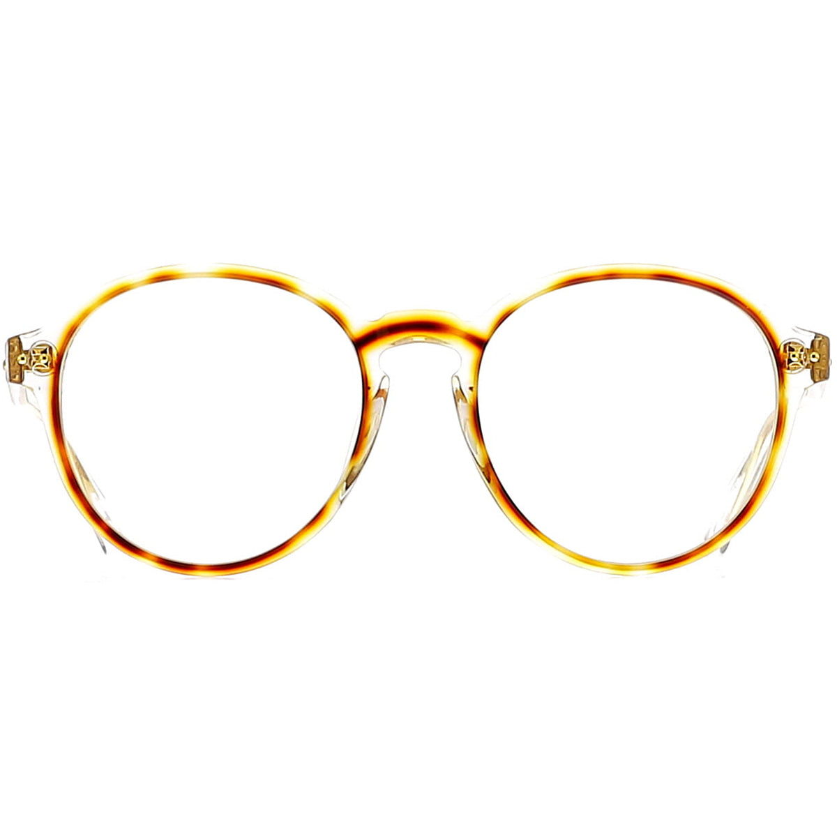 Linda Farrow Luxe LFL40 C25 Optical Clear/ Tortoiseshell/ Yellow Gold