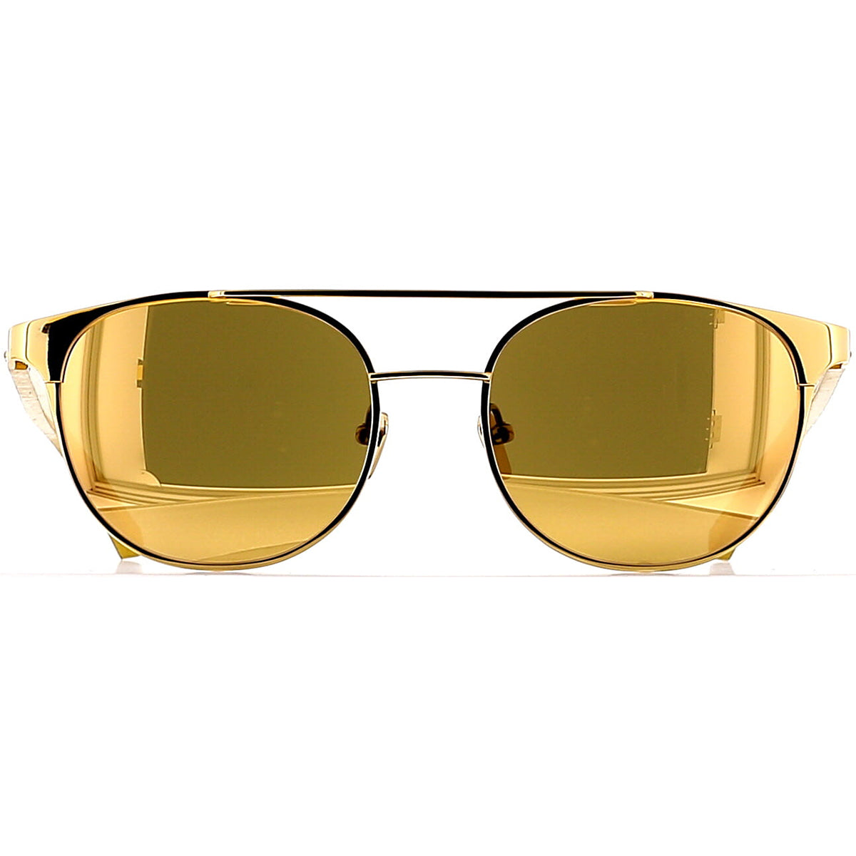 Linda Farrow Luxe LFL571 C1 Sun Yellow Gold/ Gold Wood/ Gold