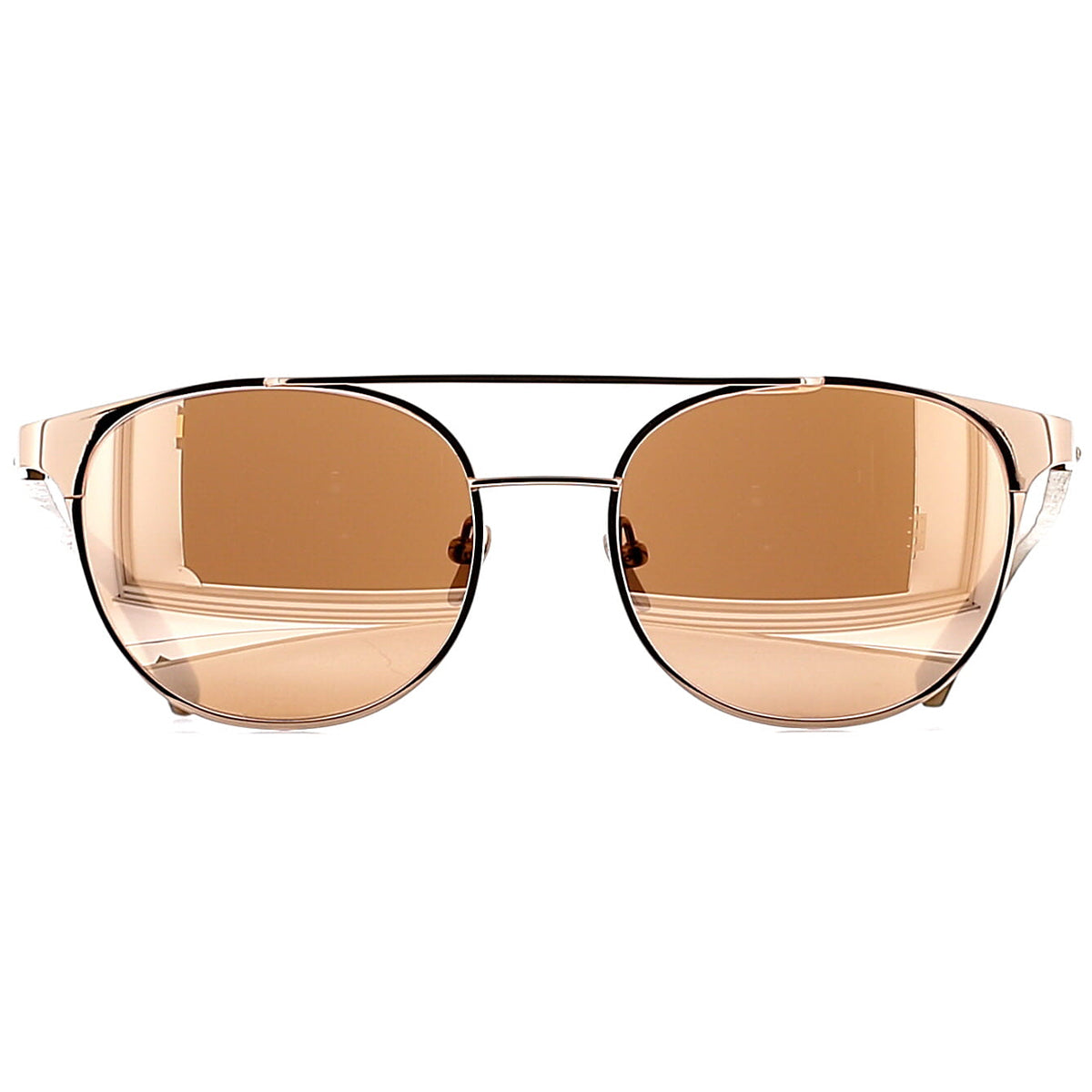 Linda Farrow Luxe LFL571 C3 Sun Rose Gold/ Ash Wood/ Rose Gold