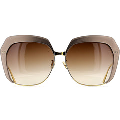 Linda Farrow Luxe LFL578 C5 Sun Taupe Aluminum/ Yellow Gold/ Brown Gradient