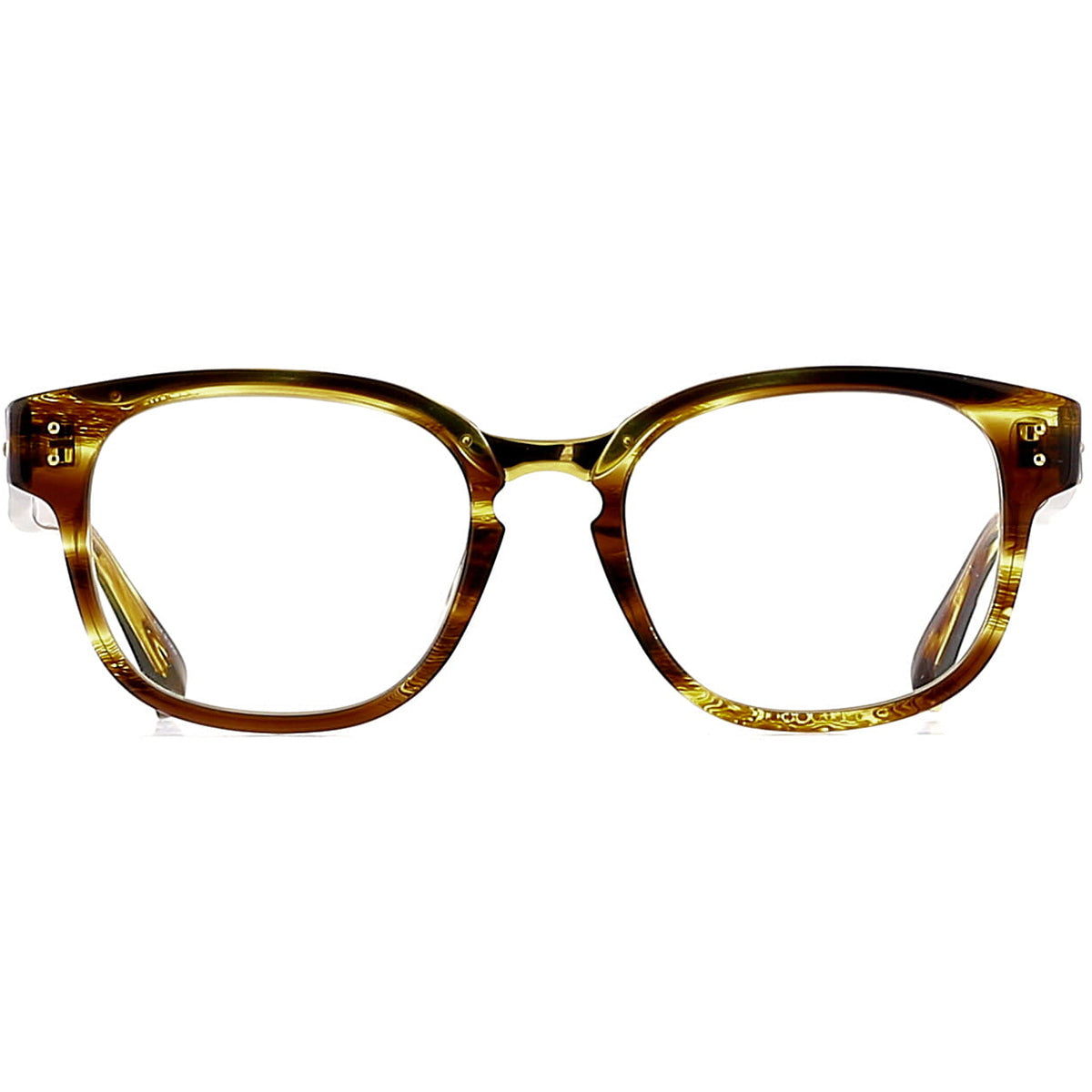 Linda Farrow Luxe LFL584 C10 Optical Tiger Eye/ Yellow Gold