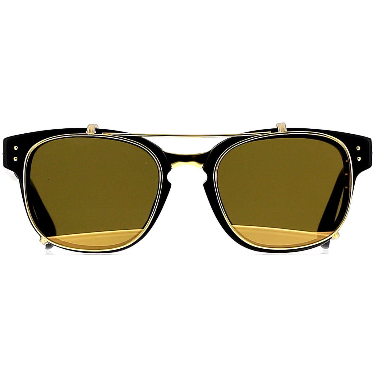 Linda Farrow Luxe LFL584 C1 Optical Black/ Yellow Gold/ Gold