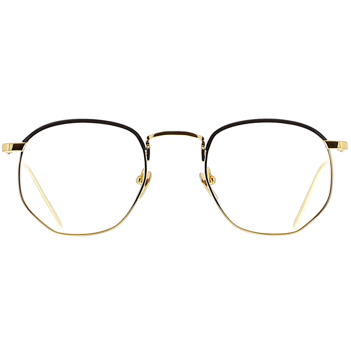 Linda Farrow Luxe LFL586 C1 Optical Yellow Gold/ Black